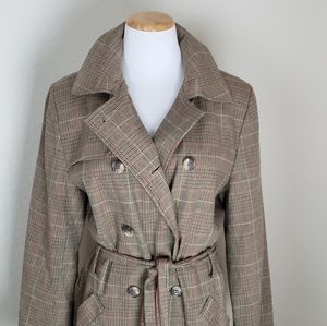 Vintage Plaid Trench Coat SZL